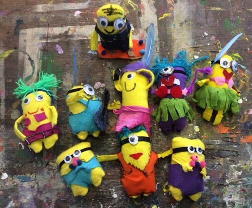 Populair Kinderfeestje minions knutselen en schilderen in Wageningen of Tilburg BL22